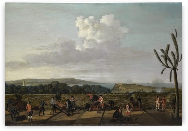 The Capture of Havana, 1762, the English Battery before Morro Castle by Dominic Serres