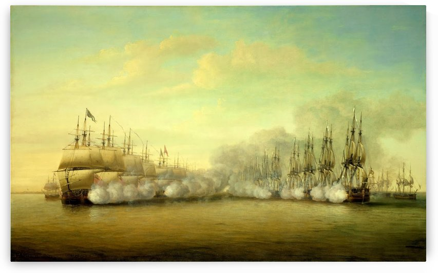The Battle of Negapatam by Dominic Serres
