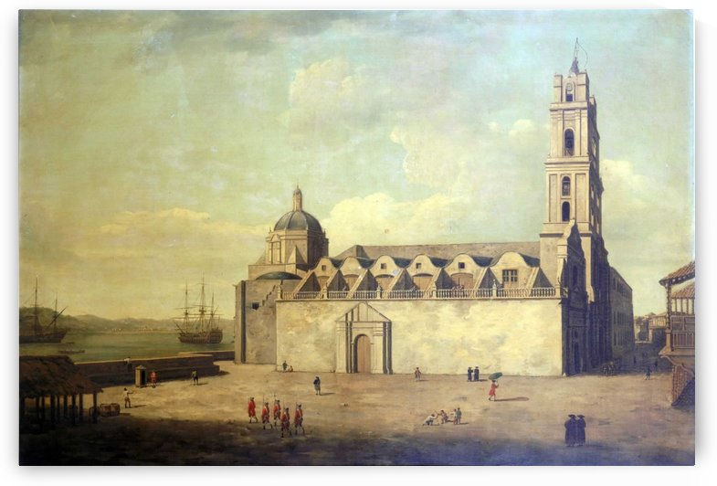 The Cathedral at Havana, August-September 1762 by Dominic Serres