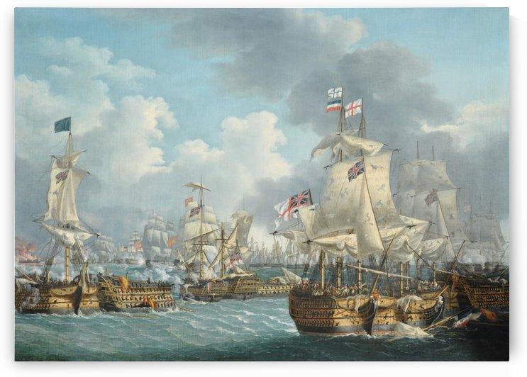 Ships at Traffalgar by Dominic Serres