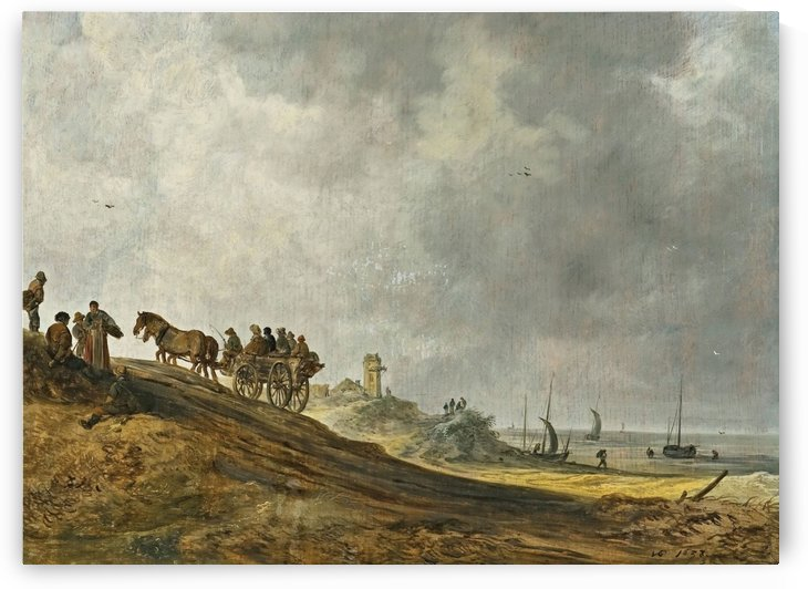 Beach Picture by Jan van Goyen