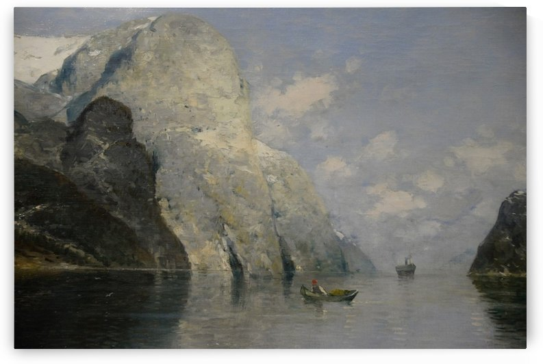 Blue Skies at Fjord by Georg Anton Rasmussen