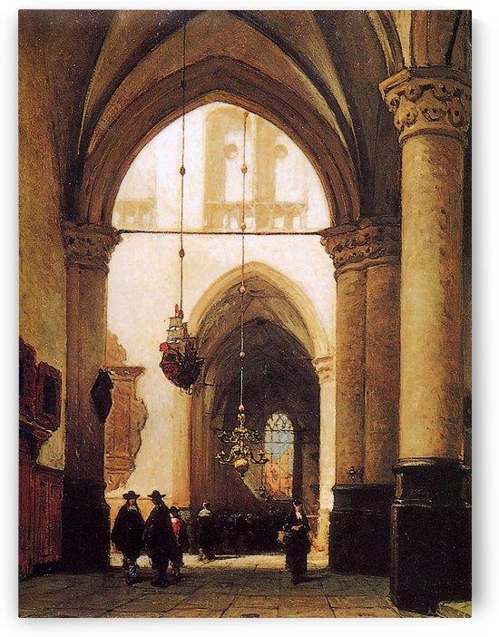 St Laurens Church In Alkmaar Sun by Johannes Bosboom