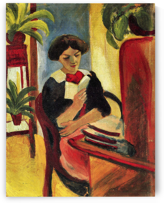 Elisabeth at her desk -2- by August Macke by August Macke