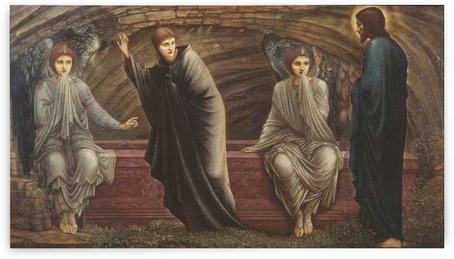 Magdalena with the appearance of Christ by Sir Edward Coley Burne-Jones