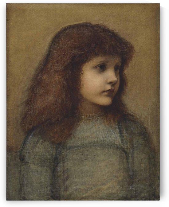 Portrait of Gertie Lewis by Sir Edward Coley Burne-Jones