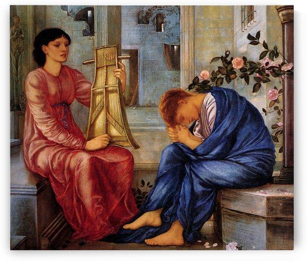The Lament 1865 by Sir Edward Coley Burne-Jones