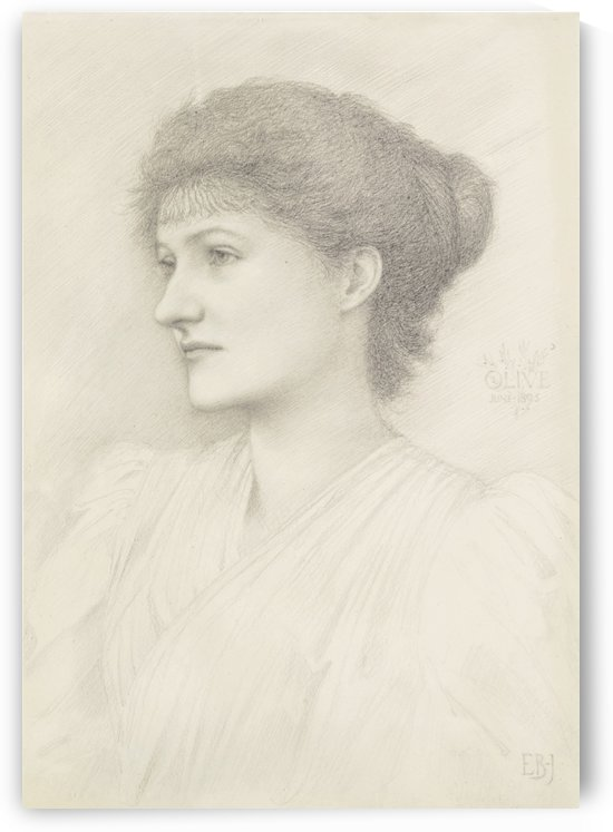 Portrait of Olive Maxse by Sir Edward Coley Burne-Jones