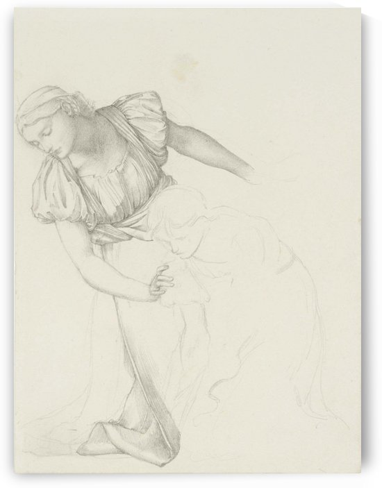 Figures for The Mirror of Venus by Sir Edward Coley Burne-Jones