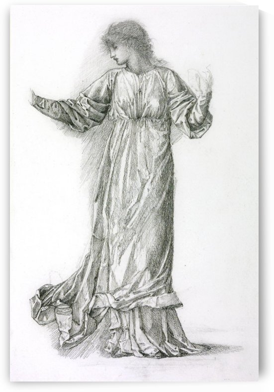 Study of a Dancing Woman for The Mill painting by Sir Edward Coley Burne-Jones