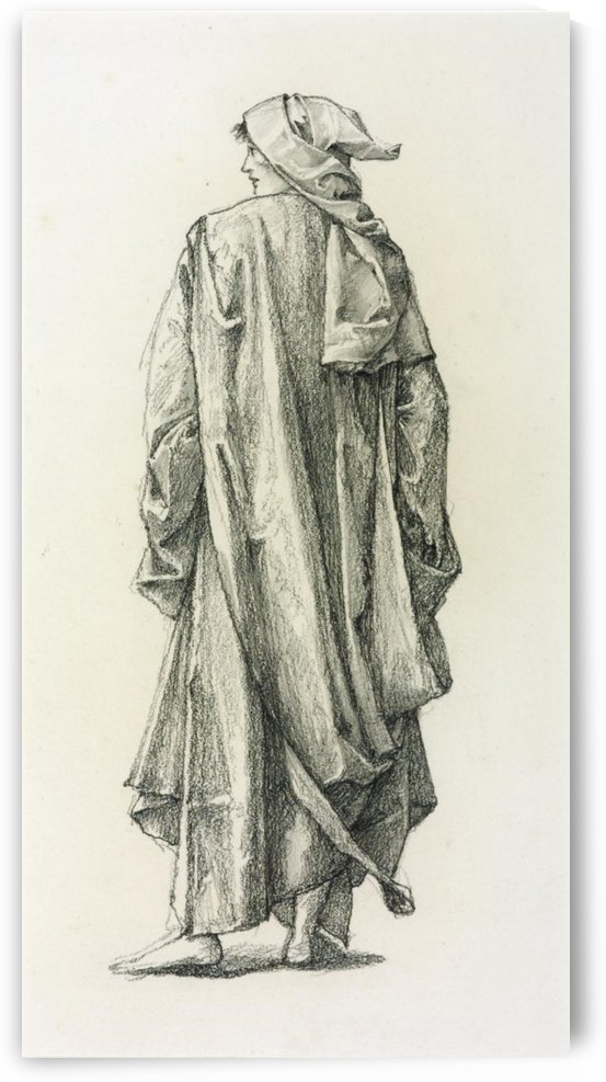 Study of the Pilgrim for The Pilgrim at the Garden of Love painting by Sir Edward Coley Burne-Jones