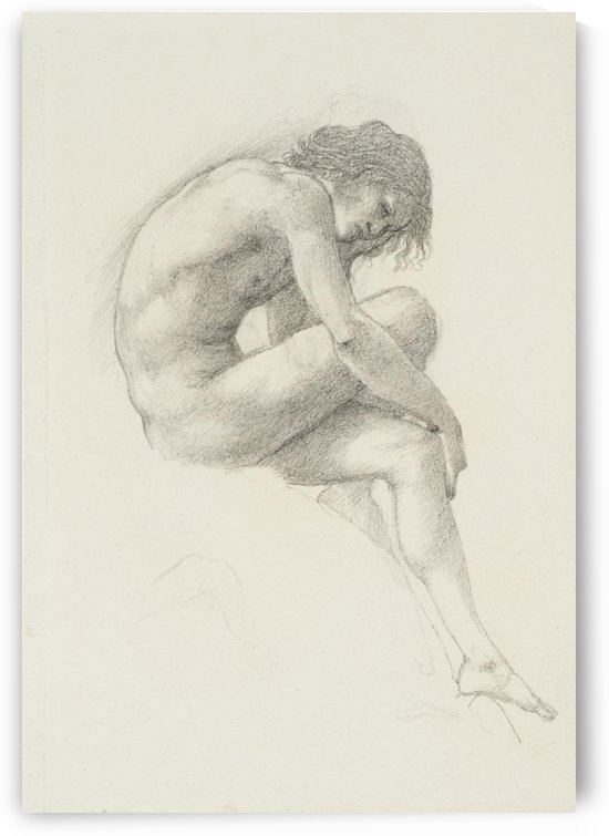 Study of Perseus for The Call of Perseus painting by Sir Edward Coley Burne-Jones