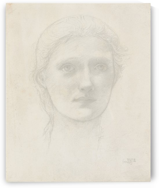 Study of Anne Pollen for King Cophetua and the Beggar Maid by Sir Edward Coley Burne-Jones