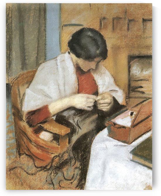 Elisabeth Gerhardt, stitching by August Macke by August Macke