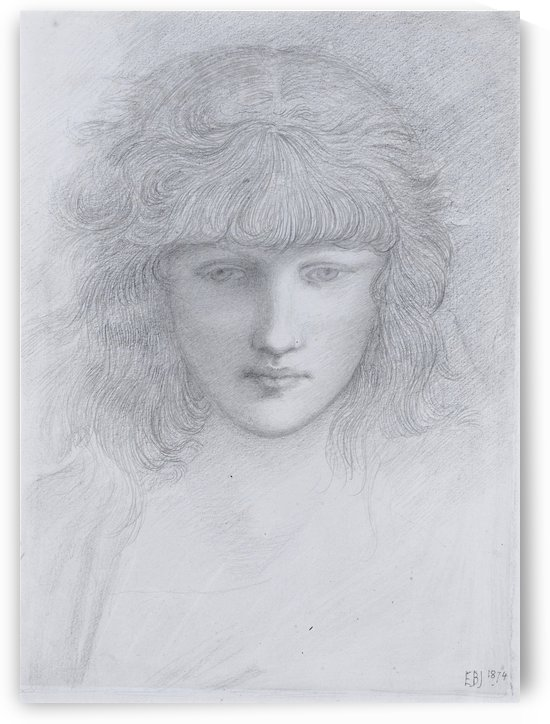 The Head of a Young Girl by Sir Edward Coley Burne-Jones