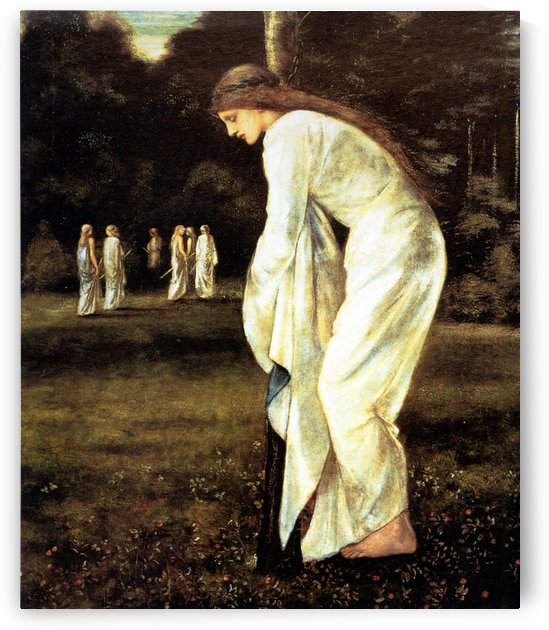 Princess tied to a tree by Sir Edward Coley Burne-Jones
