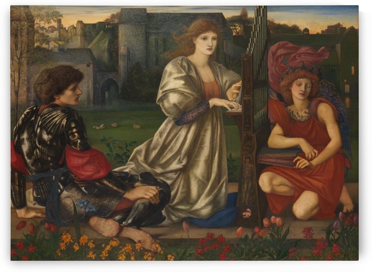 The Love Song by Sir Edward Coley Burne-Jones