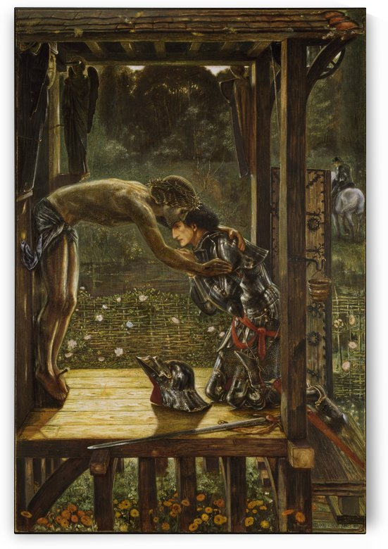 The Merciful Knight by Sir Edward Coley Burne-Jones