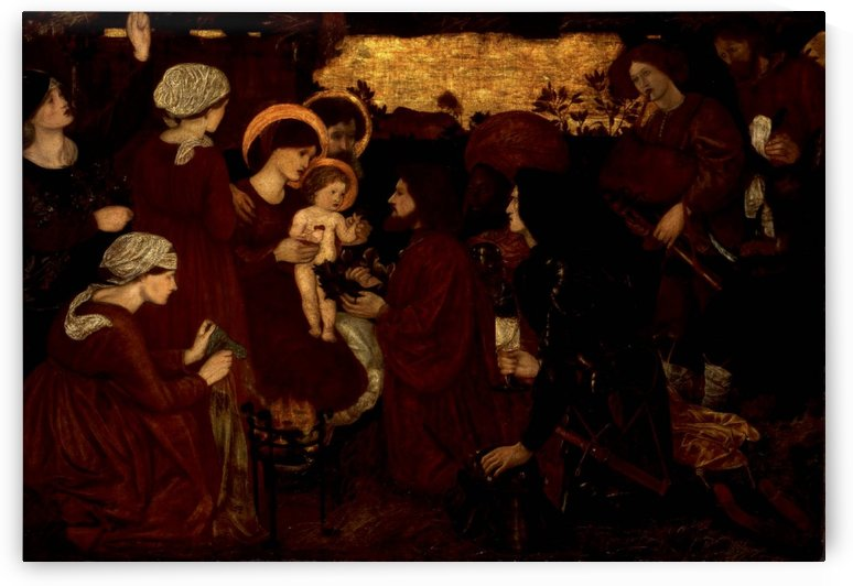 The Annunciation and the Adoration of the Magi 1861 by Sir Edward Coley Burne-Jones
