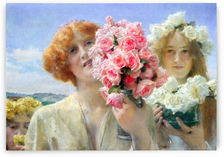 A summer offering by Alma-Tadema by Alma-Tadema