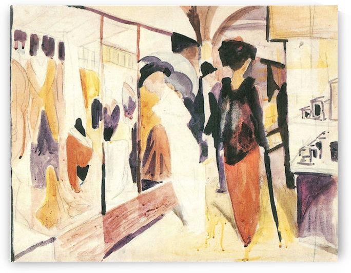 Fashion shop porch by August Macke by August Macke