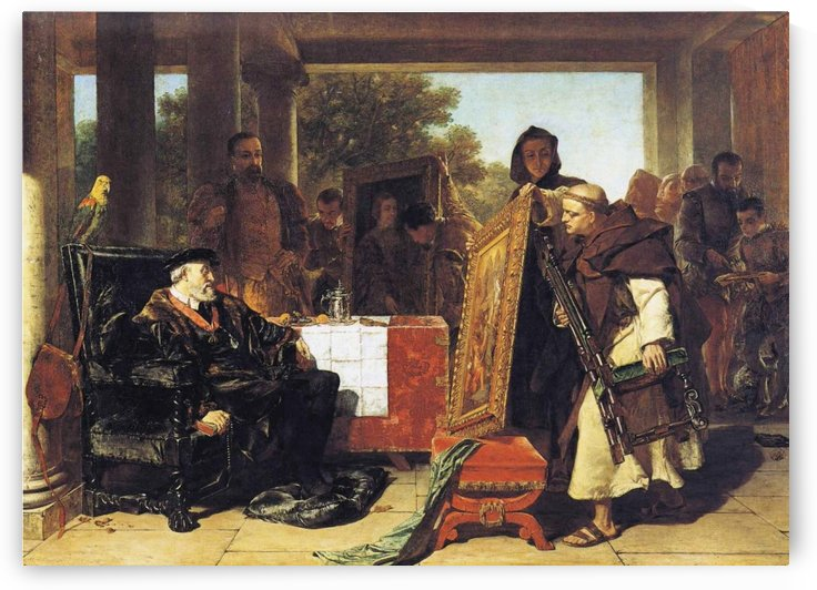 The Emperor Charles V at the Convent of Yuste by Alfred Elmore