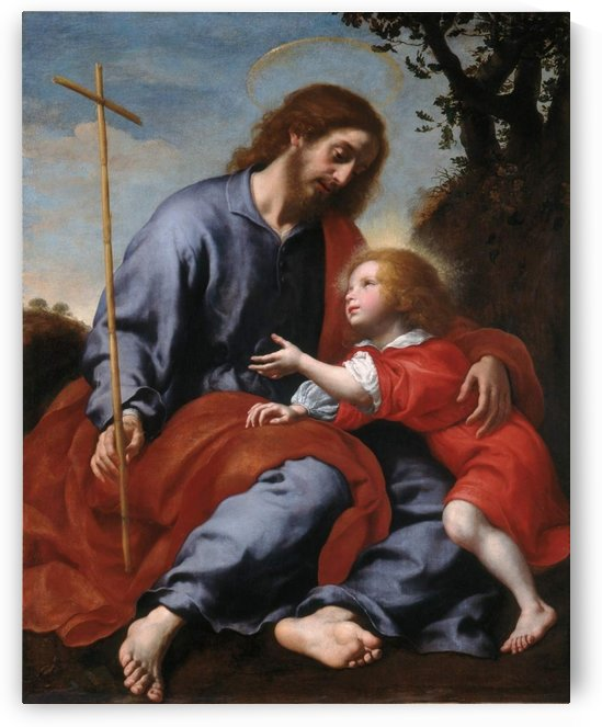 San Giuseppe mostra la croce a Gesu Bambino by Carlo Dolci