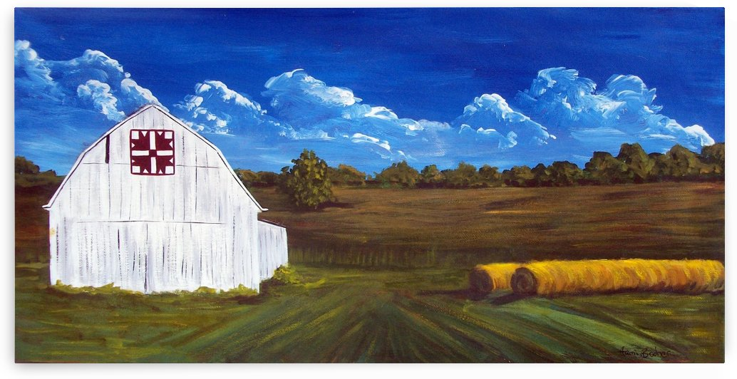 turkey track hay roll by Tami Booher Appalachian Nature Painter