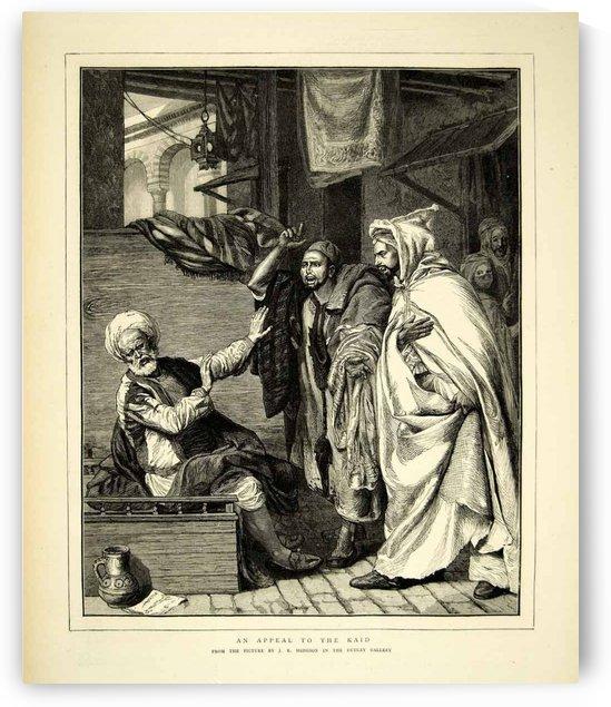 1872 Wood Engraving John Evan Hodgson Art Appeal Qaid Muslim Islam Portrait by John Evan Hodgson