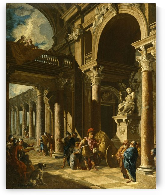 Alexander the Great Cutting the Gordian Knot by Giovanni Paolo Pannini