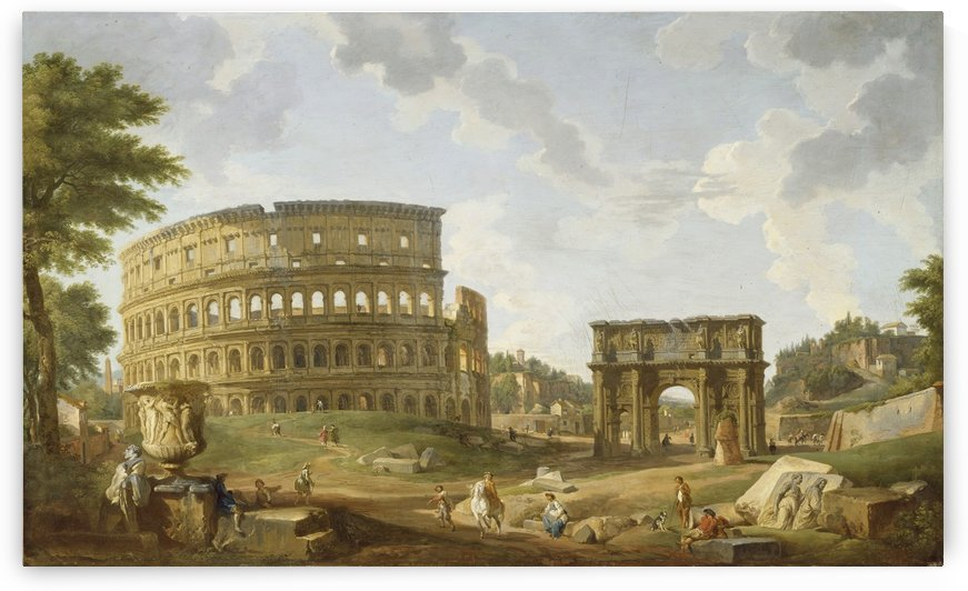 View of the Colosseum by Giovanni Paolo Pannini