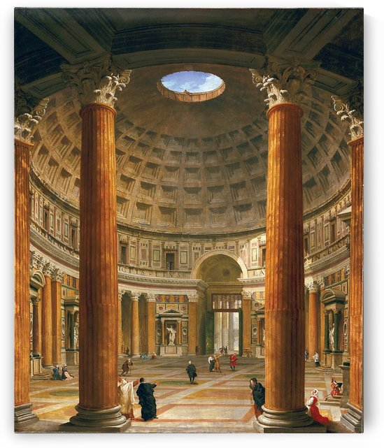 Interior of the Pantheon, Rome, 1732 by Giovanni Paolo Pannini