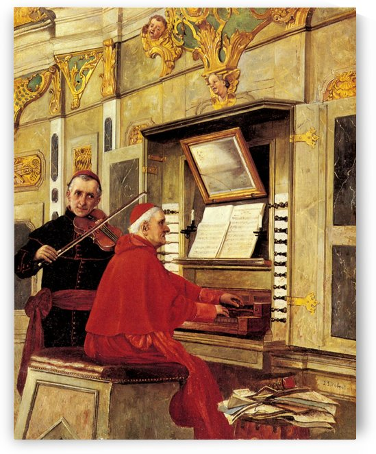 The Duet by Jehan-Georges Vibert