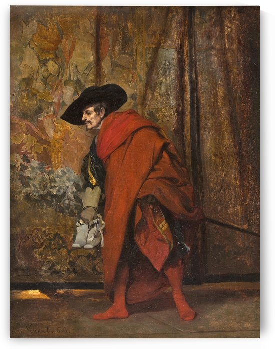 Polonius behind the curtain by Jehan-Georges Vibert