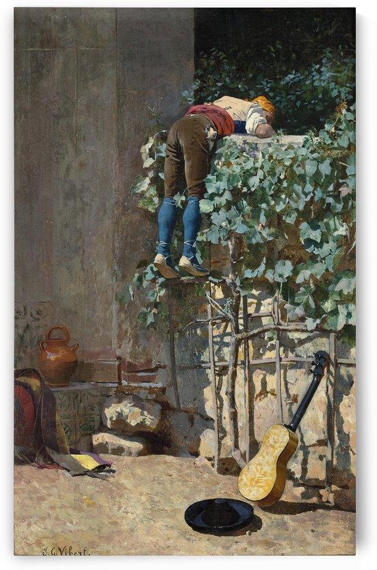 Sneaking a peek by Jehan-Georges Vibert