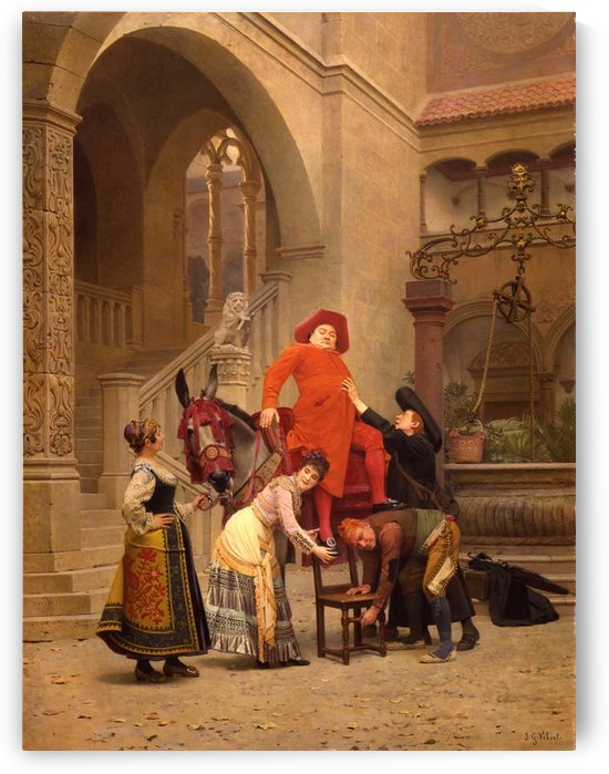 His Eminence Returns by Jehan-Georges Vibert