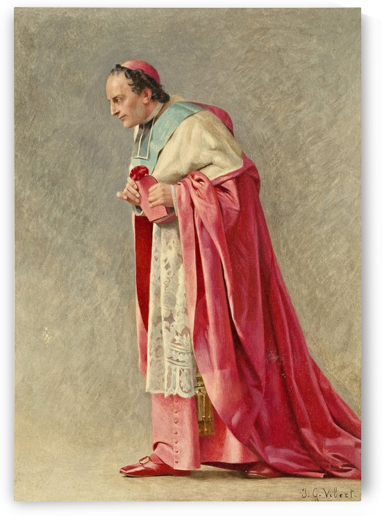 The cardinal by Jehan-Georges Vibert