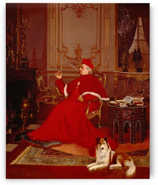 A Quiet Smoke by Jehan-Georges Vibert