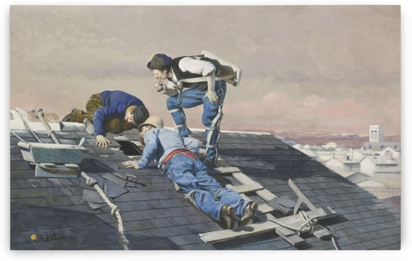 Peeping Roofers by Jehan-Georges Vibert