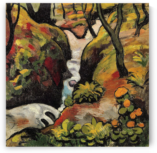 Forest Brook by August Macke by August Macke