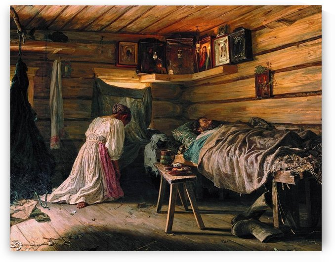 The sick man by Vassily Maximovich Maximov
