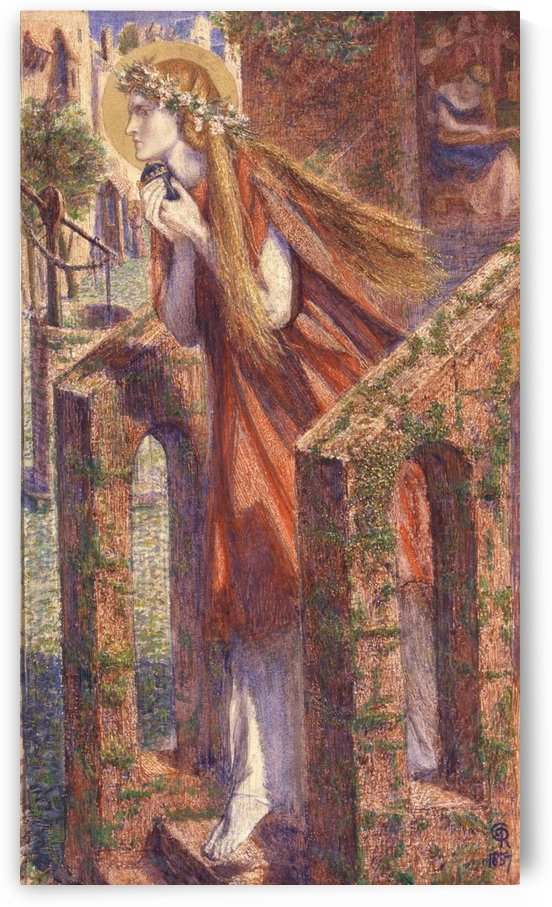 Mary Magdalene leaving the house feasting 1857 by Dante Gabriel Rossetti