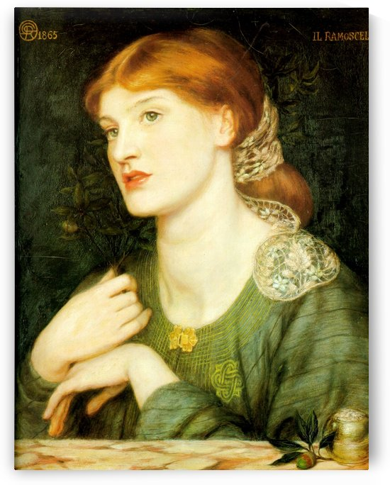The Twig, 1865 by Dante Gabriel Rossetti