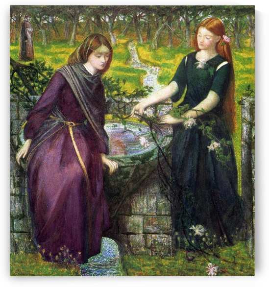 Dante Vision of Rachel and Leah 1855 by Dante Gabriel Rossetti