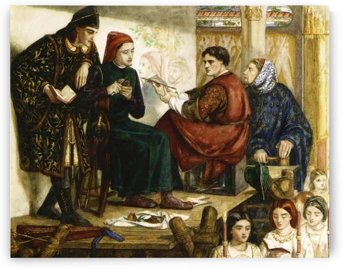 Giotto Painting the Portrait of Dante by Dante Gabriel Rossetti