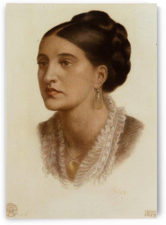 Portrait of Mrs Georgin A Fernandez 1874 by Dante Gabriel Rossetti