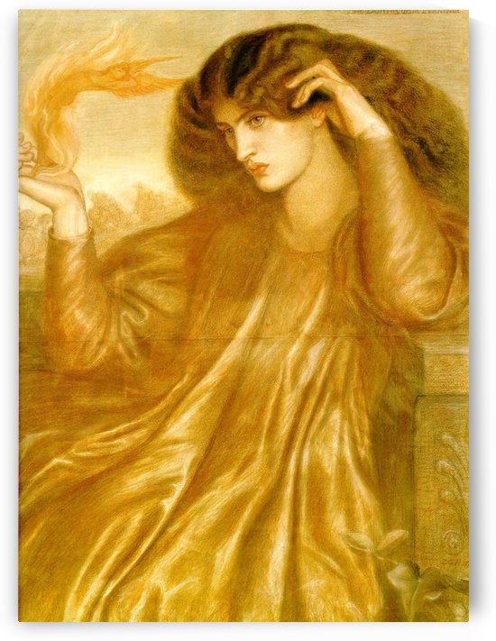 The Women of the Flame, 1870 by Dante Gabriel Rossetti