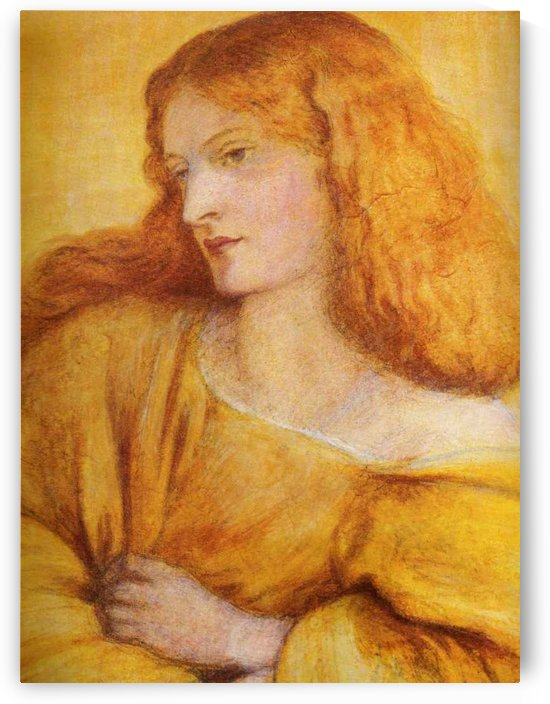 Woman in Yellow by Dante Gabriel Rossetti