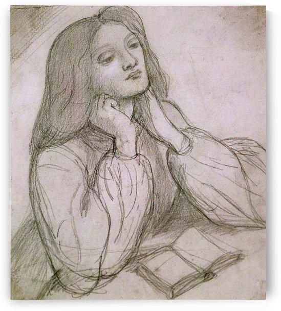 Drawing of Elizabeth Siddal by Dante Gabriel Rossetti