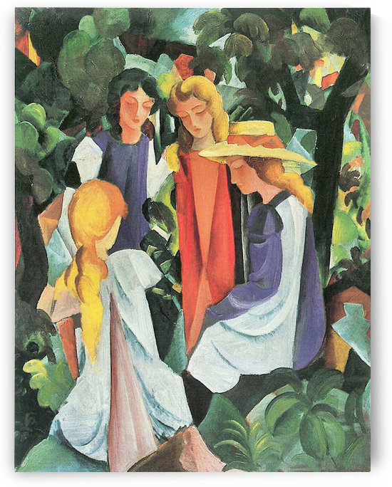Four girls by August Macke by August Macke